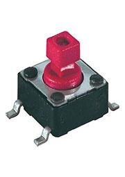 DTSM-644R-V-T/R, кнопка тактовая SMT 6x6 H-7.3 160gf