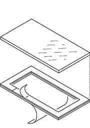 34130041, ART 300 Дисплейное окно с клеевой рамкой
