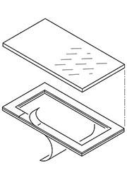 34180041, ART 800 Дисплейные окна с клеевой рамкой