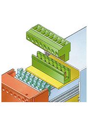 66004500, STL 950/4 V CombiNorm Колодка штекерного разъёма для горизонтально вставленных печатных пл