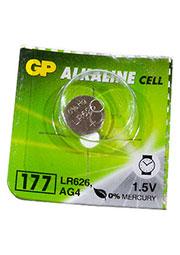 GP177, батарейка диск MnZn, alkaline 1,5В 1 шт. (G4, LR626)