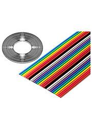 3302-20/100SF, плоский цветной кабель 1.27мм 20 жил 31 м