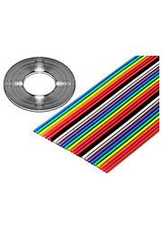 3302-26/100SF, плоский цветной кабель 1.27мм 26 жил 31 м