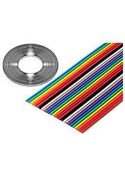 3302-40/100SF, плоский цветной кабель 1.27мм 40 жил 31 м