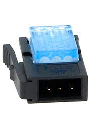 37103-A165-00E, IDC вилка на кабель 3 контакта шаг 2мм синяя