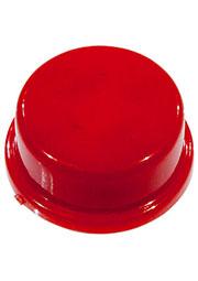 KTSC-22R, колпачок для кнопки круглый красный D12мм