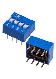 DS-04B-V, analogue  DS-04BBU-G DIP переключатель 4 поз.(аналог SWD 1-4 ВДМ 1-4)