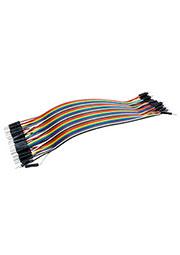 Jumper Wire M-M, перемычки для п/п папа-папа 40шт длина 20см