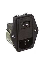 2EDL1SC, 6609122-2   Модули подачи электропитания переменного тока 2A IEC - .110 FASTON SNAP IN MOUN