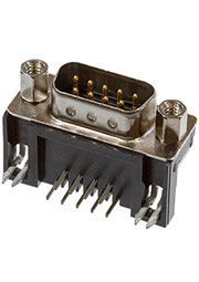 2301843-2, Разъем AMPL PLUG HD20 R/A 9P, B/L,4-40 S/LOCK