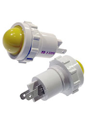 СКЛ12-Ж-2-220, Лампа полупроводниковая коммутаторная желтая 220В