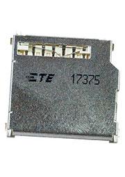 2041021-3, Secure Digital Conn,top,Push-Pull,10 Au