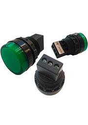 СКЛ14Н-Л-2-220, Лампа полупроводниковая коммутаторная (зеленая) 220В d22мм (AD22DS)