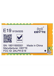 E19-915M30S, Module Lora spread-spectrum; SPI; 915MHz; 30dBm; 10.0; 0.018~37.5k; 25*40