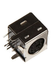 MDN-6FRS, Mini-Din розетка 6 контактов на плату  DS1093-01-6