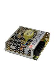 LRS-75-24, AC-DC, 76.8Вт, вход 85 264В AC, 47 63Гц / 120 370 В DC, выход 24В/3.2A, рег. вых  10% , и