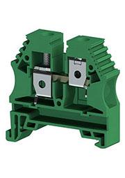 AVK10 (зеленый), Клеммник на DIN-рейку 10мм.кв.