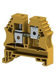 AVK10 (желтый), Клеммник на DIN-рейку 10мм.кв.