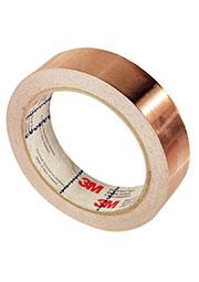 1181-10, медный скотч для экранирования с проводящим клеем (10ммх16,5м)