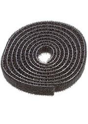 HL-Black 10mm, Хомут липучка велькро черный 10мм длина 1м