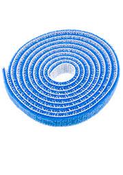 HL-Blue 10mm, Хомут липучка велькро синий 10мм длина 1м
