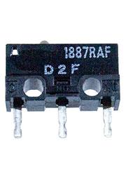 D2F, микропереключатель угловой 3А/125В АС
