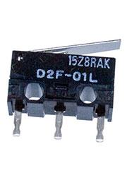 D2F-01L, микропереключатель с лапкой 0,1А/30В dc