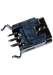 Мини USB 5P гнездо, вертикальный разъем на плату (C8320-05BFSSBOR)