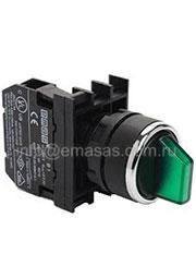 B100SL20B, Переключатель 0-1 с фиксацией белый (1НО)