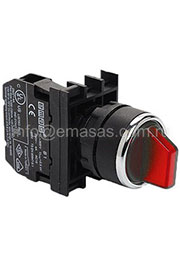 B100SL20K, Переключатель 0-1 с фиксацией красный (1НО)