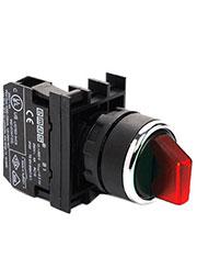 B100SL21K, Переключатель 0-1 без фиксации красный (1НО)