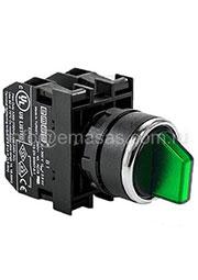 B100SL32Y, Переключатель 2-0-1 без фиксации зеленый (Н0