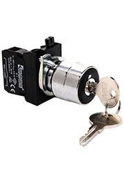 CM102AA31, Кнопка с ключом 2-0-1, ключ выним. в полож. 0 (1НО+1НЗ)