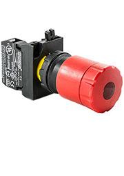 CP200ECS30, Кнопка аварийная включение отжатием , с подсветкой (1НЗ)