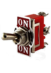 SQ0703-0028, Переключатель-тумблер 1122 (П2Т-1) вкл.- откл.- вкл. 1 группа контактов