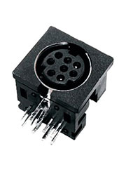 MDN-4FR, разъем MiniDIN гнездо на плату (L-KLS1-285A-04-B)