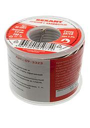 09-3323, Припой с канифолью, 250 г, D2.0 мм, (олово 60%, свинец 40%), катушка