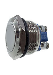 L-KLS7-PBS-014D, кнопка металл.OFF-(ON) 250В 2А D=22мм винт. клем.