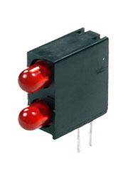 L-934EB/2ID, светодиодная сборка 2шт. красный d=3мм 20мКд