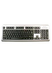 A4 LCDS-720-USB, клавиатура USB, серебр-черная