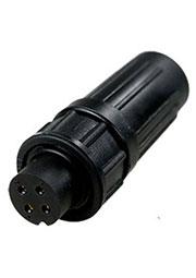 PY07-4T, розетка на кабель пластик. IP67 4 контакта 4А 250В