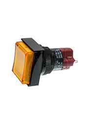 D16LMT1-1ABKY, Переключатель кнопочный без фиксации 250В/5А LED подсветка 24В