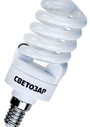 44353-15_Z01, энергосберегающая лампа спираль, E14 яркий белый 15Вт