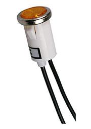 N-828BY-220V, лампа неоновая с держателем желтая 220В d=13мм