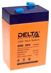DTM 6045, аккумулятор (DTM604) 6В 4.5Ач 70х47х107