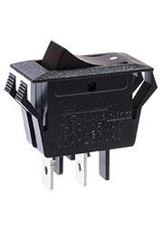 B1012, переключатель клавишный ON-OFF 250В 12A черный (аналог SWR61)