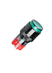 D16LMR1-1ABKG, Переключатель кнопочный без фиксации 250В/5А LED подсветка 24В
