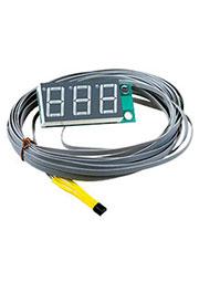 STH0014UR, встр.цифр.,термометр,с датч.,ульт.-ярк.крас. инд.,-55°C+125°