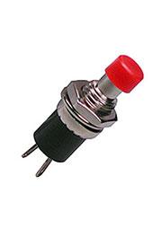 PB-05-7R-G, кнопка без фикс. 250В 1А красн.OFF-(ON) (аналог SPA-106B1 PSW5)