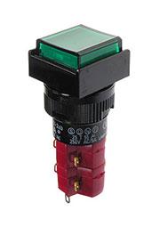 D16LAS1-2ABKG, Переключатель кнопочный с фиксацией 250В/5А LED подсветка 24В
